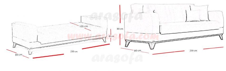 ابعاد مبل تخت شو b19np - Copy (2)