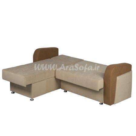 مبل راحتی تختخوابشو طرح ال مدل L22 - مبل آرا