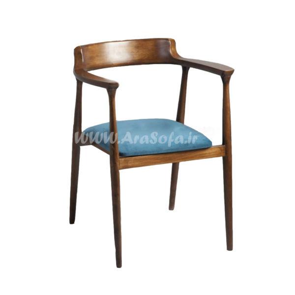 صندلی چوبی فلزی مدل HCH4 - مبل آرا