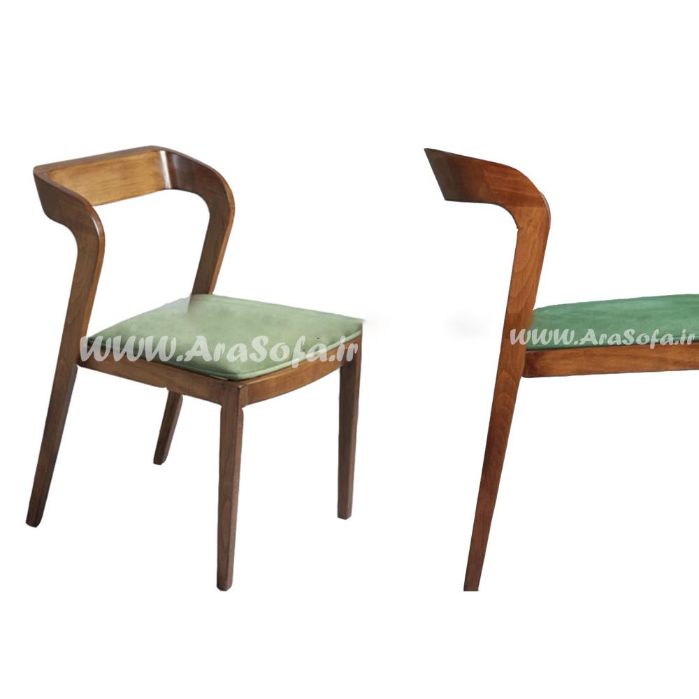 صندلی چوبی فلزی مدل HCH6 - مبل آرا