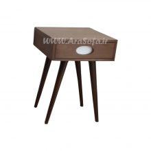 میز عسلی چوبی کشودار مدل M27A