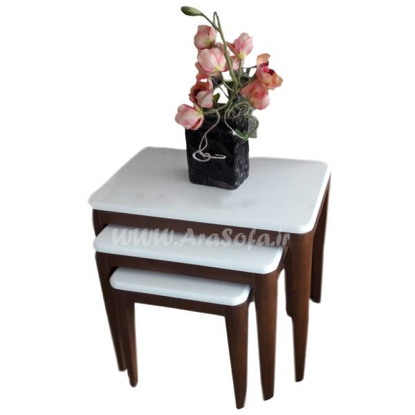 میز عسلی چوب راش مدل M30A -مبل آرا