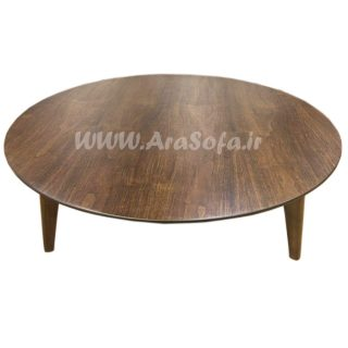 میز جلو مبلی گرد چوبی مدل mct5