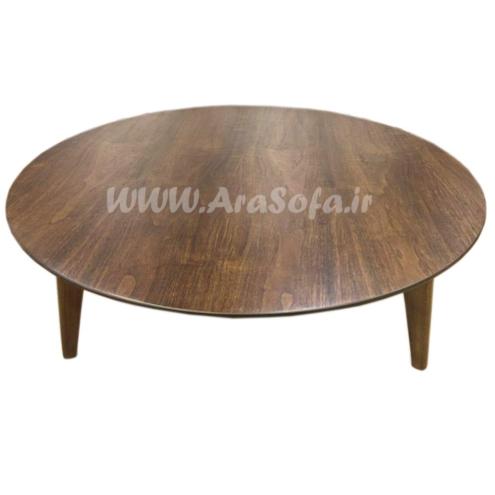میز جلو مبلی گرد چوبی مدل M54 - مبل آرا
