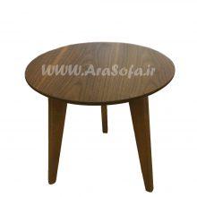 میز عسلی گرد چوبی مدل M54A