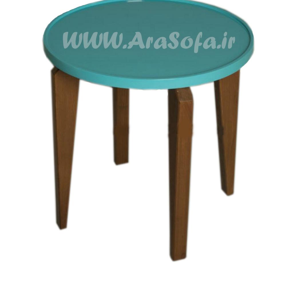 میز عسلی چوبی گرد مدل M58A - مبل آرا