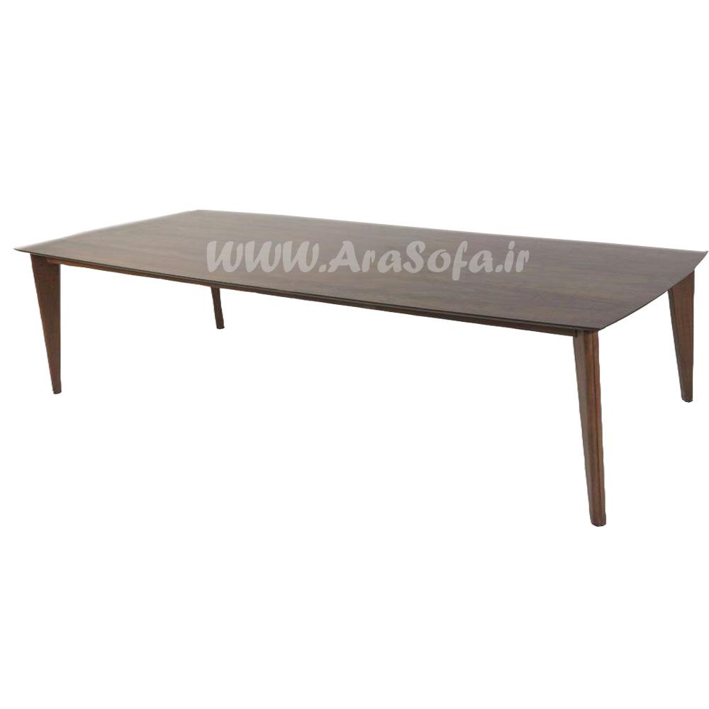 میز نهارخوری چوبی 6 نفره مدل MNDT6 - مبل آرا