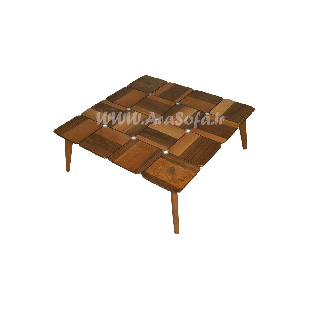 میز جلو مبلی چوبی پازلی مدل MP51 - مبل آرا