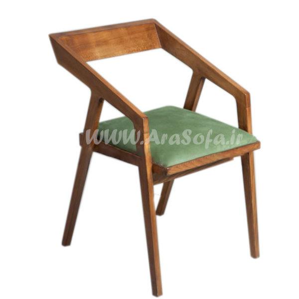 صندلی چوبی فلزی دسته اوریب مدل HCH3 - مبل آرا