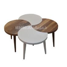 میز ۴ عسلی چوبی مدل M13