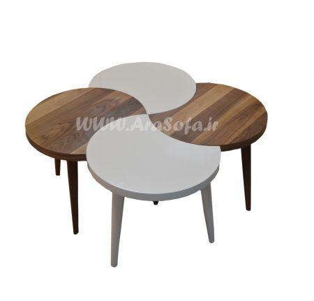 میز ۴ عسلی چوبی مدل M13 - مبل آرا