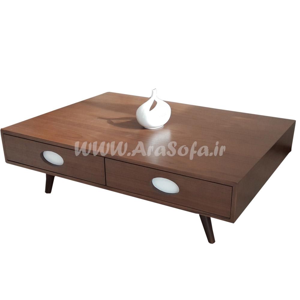 میز جلو مبلی کشودار چوبی مدل M27 - مبل آرا