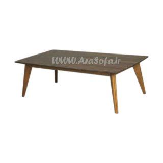 میز جلو مبلی چوبی مستطیل مدل M56 - مبل آرا