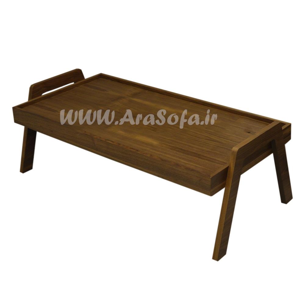 جلو مبلی پایه هشتی چوبی مدل M63 - مبل آرا