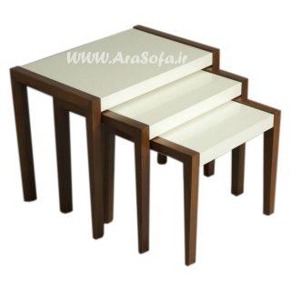 میز عسلی چوبی مدل M64 - مبل آرا