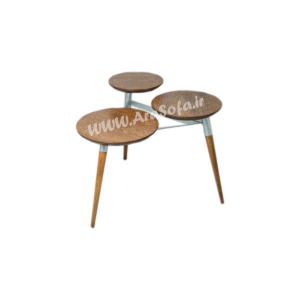 میز عسلی چوبی فلزی مدل M65 - مبل آرا