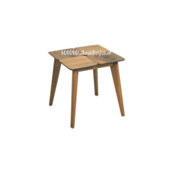 میز عسلی چوبی پازلی مدل MP50A - مبل آرا