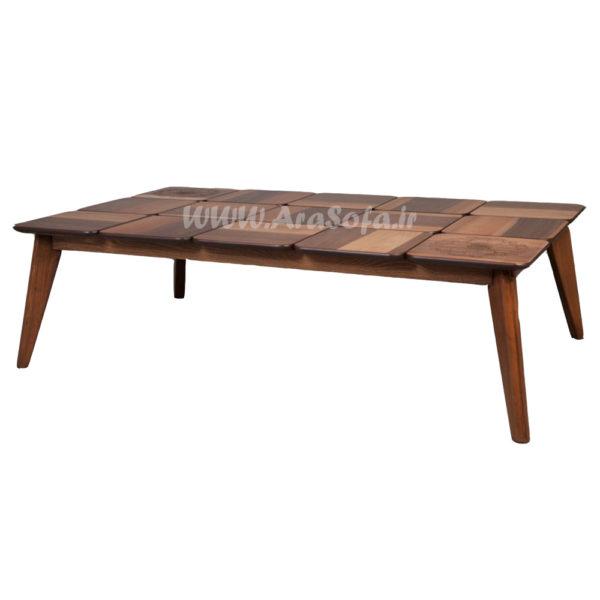 میز جلو مبلی چوبی پازلی مستطیل مدل mp52 - مبل آرا
