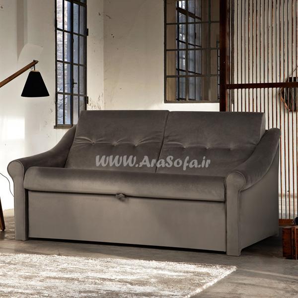 کاناپه تختخوابشو دو نفره مدل U23 - مبل آرا